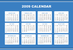 Editable 2009 calendar Royalty Free Stock Images