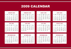 Editable 2009 calendar. An editable 2009 calendar design Royalty Free Stock Photography