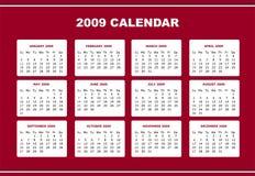 Editable 2009 calendar Royalty Free Stock Photography
