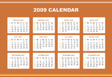 Editable 2009 calendar. An editable 2009 calendar design Stock Photography