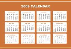 Editable 2009 calendar Stock Photography
