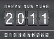 Editable 2011 new year on mechanical scoreboard. Illustration Stock Image