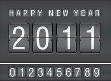 Editable 2011 new year on mechanical scoreboard. Illustration vector illustration