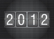 Editable 2012 new year on mechanical scoreboard. Vector illustration royalty free illustration