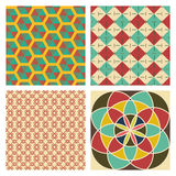 Editable Abstract Geometrical Retro Background Stock Image