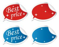Editable best price stickers Royalty Free Stock Images
