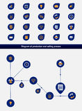 Editable business diagram template with set of icons Stock Images