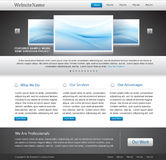 Editable business website template Stock Photos