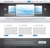 Editable business website template. Business website template - gray, metallic, blue colors - copy space vector