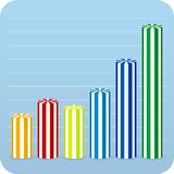 Editable chart (vector). Vector layered for easy value changes. Only global colors. CMYK. Separate shapes. Easy color changes. You can change data values simply Stock Images