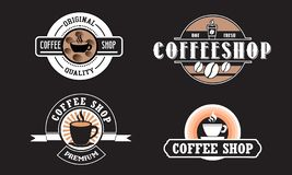 Editable coffee shop logo for business. Freely to edit and the logo, also can be use to another design concept royalty free illustration