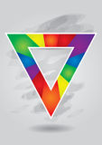 Editable color triangle template Royalty Free Stock Photography