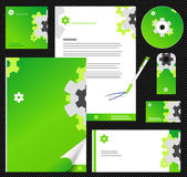 Editable corporate Identity template 2. Green Royalty Free Stock Image