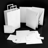 Editable corporate Identity template stock images