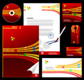 Editable corporate Identity template 4. Red Royalty Free Stock Images
