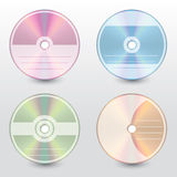 Editable and customizable disc covers Stock Photo