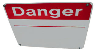 Editable Danger Sign Stock Images