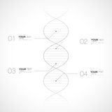 Editable dna infographic design isolated on white background Stock Photo
