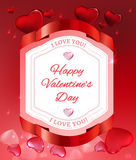 Editable elementary vector image Valentine postcard Royalty Free Stock Photo