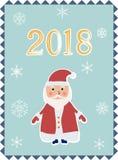 editable eps Χριστουγέννων καρτών πλήρες santa Claus απεικόνιση αποθεμάτων