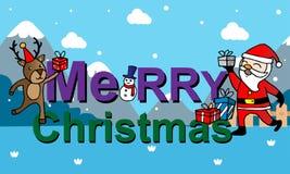 editable eps Χριστουγέννων καρτών πλήρες santa Claus Στοκ Εικόνα