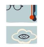 Σχεδιάγραμμα επαγγελματικών καρτών. Πρότυπο σχεδίου Editable Στοκ εικόνα με δικαίωμα ελεύθερης χρήσης