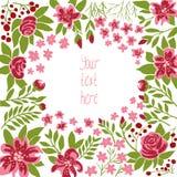 πρόσθετο editable eps floral συμπεριλαμβανόμενο πλαίσιο διάνυσμα μορφής Στοκ Εικόνες