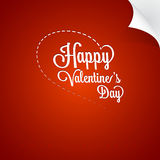 Valentines Day vintage greating card Stock Images