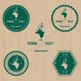 Vintage Deer Badge set Royalty Free Stock Photos