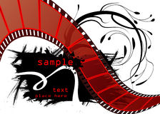 Editable film vector. This is a editable film strip vector for your advertisement Stock Photo