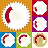 Editable gear chart (vector) Royalty Free Stock Photos