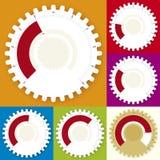 Editable Gear Chart (vector) Royalty Free Stock Photos