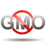 Editable GMO-free sign Royalty Free Stock Photos