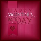 Greating Karte der Valentinsgruß-Tagesweinlese Lizenzfreies Stockbild
