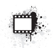 Editable  grunge film frame Royalty Free Stock Image