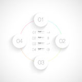 Editable infographic Design lokalisiert auf weißem Hintergrund Lizenzfreies Stockbild