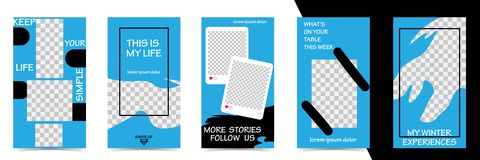Editable Instagram Stories template. Streaming royalty free illustration