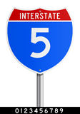 Editable Interstate sign royalty free illustration