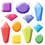 Editable Leuke Diamanten op een Witte Achtergrond Royalty-vrije Stock Afbeeldingen