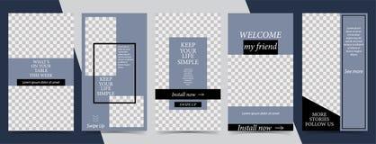 In editable malplaatje voor sociale netwerkenverhalen, vectorillustratie Ontwerpachtergronden voor sociale media vector illustratie
