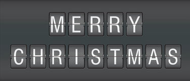 Editable merry christmas on mechanical scoreboard. Illustration Stock Photos