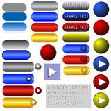 Editable navigation buttons - vector. Illustration of the various buttons for website - vector - fully editable Stock Photos