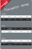 Editable navigation menus. Navigation menus with different states Royalty Free Stock Photo
