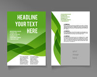 Editable A4 poster for design. Presentation, website, magazine, ECO style and green colors vector illustration