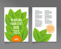 Editable A4 poster for design Royalty Free Stock Photography