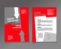 Editable A4 poster for design. Presentation, website, magazine, red and grey colors royalty free illustration