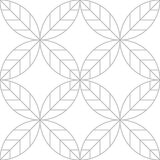 Editable Seamless Geometric Pattern with Leaf Design. Leaf Pattern Line Art Design Stock Photos