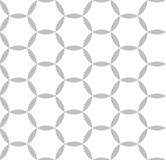 Editable Seamless Geometric Pattern Tile. Circular Hexagonal Shape in Silver Color Design Concept Stock Images