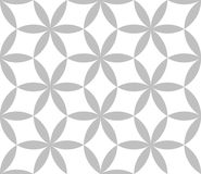 Editable Seamless Geometric Pattern Tile. Circular Hexagonal Shape in Silver Color Design Concept Royalty Free Stock Image