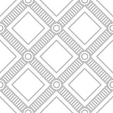 Editable Seamless Geometric Pattern Tile. Mosaic Batik Design Concept in Silver Color Royalty Free Stock Images